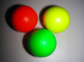 3 OBUT Target Balls in fluorescent colors C3F