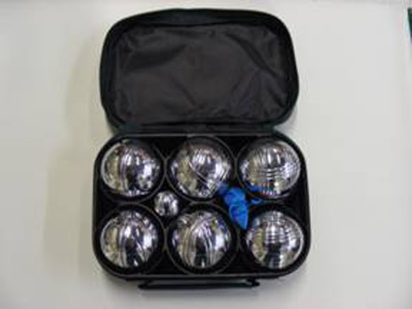 Set of 6 leisure boules in a bag with a measure and a metal jack